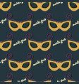 seamless pattern of a mask for mardi gras vector image