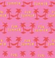 seamless pattern with fun summer lettering vector image vector image