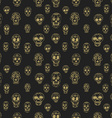 Seamless pattern with sugar skulls vector image vector image