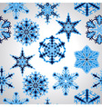 Seamless Pttern with blue Snowflakes vector image vector image