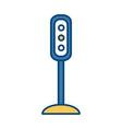 semaphore traffic lights vector image vector image