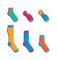 set colorful socks vector image vector image
