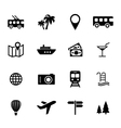 set flat icons - holiday travel and tourism vector image