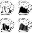 set glasses beer vector image vector image