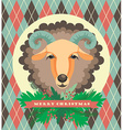 sheep symbol of 2015 vector image vector image
