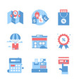 shopping and commerce vector image vector image