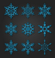snowflakes winter season christmas snow vector image