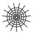 Spider web line icon halloween and scary