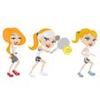 sport girls vector image vector image