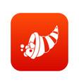 thanksgiving cornucopia icon digital red vector image