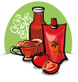 tomato sauce and ketchup vector image vector image
