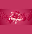 valentines day card elegant red hearts vector image vector image