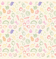 vegetable fruit seamless pattern organic food vector image vector image