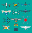 vehicle drone quadcopter surveillance unmanned vector image
