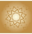 Vintage arabian mandala pattern Hand drawn vector image vector image