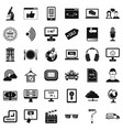 web message icons set simple style vector image vector image