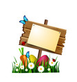 wooden board on a loan vector image vector image