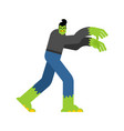 zombie isolated living dead dead man vector image vector image