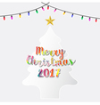 Christmas tree with light flat design vector image
