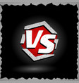 versus sign vs letters competition vector image