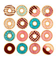 donut set isolated on a wight vector image