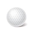 object golf ball vector image