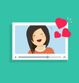 online video communication with girlfriend vector image