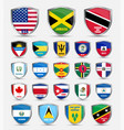 shields with flags of the countries of north vector image