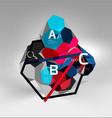 3d hexagon geometric composition geometric vector image