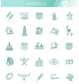 american culture icons culture signs usa vector image vector image