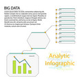 analytics infographic elements big data vector image vector image