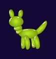 animal dog balloons balloon animals for vector image