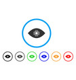artificial vision rounded icon vector image