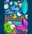 baby care products clothes and toys vector image vector image