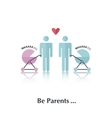Be parents vector image vector image