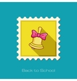Bell flat stamp vector image