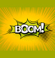 boom background with boom comic book explosion vector image