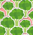 broccoli pattern Seamless texture vector image vector image