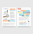 business analytics banner set with businessmen vector image vector image