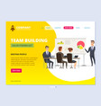 business team landing director standing and vector image vector image