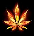 cannabis fire leaf vector image