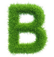 capital letter b from grass on white vector image