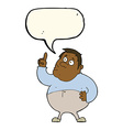 cartoon man asking question with speech bubble vector image vector image