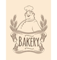 Chef baker label unicolorous vector image vector image
