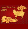 chinese new year zodiac pigs image stylized as vector image vector image
