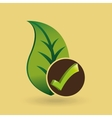 concept ecological icon nature plant vector image