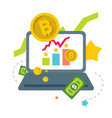 cryptocurrency earnings on internet flat vector image vector image