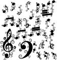 curled notes vector image vector image