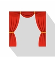 Curtain on stage icon flat style vector image vector image
