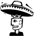 Death Under Hat vector image vector image